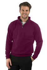 Mens/Ladies Quarter Zip Sweat Jacket, Size XS to XXXL, Suitable for Work/Leisure
