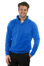Mens/Ladies Quarter Zip Sweat Jacket, Size XS to XXXL, Colour Royal Blue