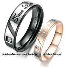 UNIQUE TRUE LOVE CRYSTAL RINGS VALENTINE XMAS GIFT FOR HER HIM WIFE LADY COUPLES