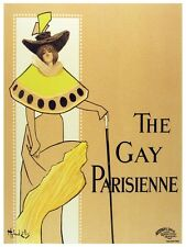 6093.The gay parisienne.woman in long beige dress.POSTER.Home Office art