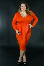 Plus Size New Popular Fashion Long Sleeve Sexy Morticia A Dress giti online