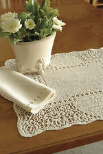 Canterbury Classic Placemat by Heritage Lace,  Ecru or White, 14x19, 1 or Set