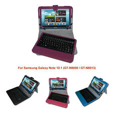 Bluetooth Keyboard Leather Case Cover for Samsung Galaxy Note 10.1 N8000 N8013