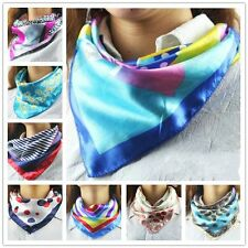 Silk Head Wrap Square Scarf Scarves Bandanas Satin Shawl Stewardess Hotel Staff