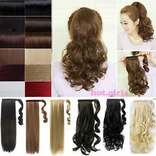 Clip In Pony Tail Hair Extension Wrap Around Ponytail Hair Extension Piece USPS8