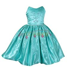 Kid Girls Frozen Princess Elsa Dress Up Costume Anna Party Cosplay Xmas Gift 2-7