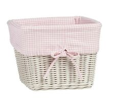 Pottery Barn Kids Basket Liners Large Pink White Gingham