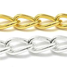 6mm Thick Chunky Twisted Cable Link Chain Plated Steel Base Metal Sold by Foot