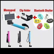 Bluetooth selfie Extendable Shutter Handheld MONOPOD Telescopic iPhone 4 5 5S 4S