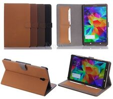 Luxury Folio Leather Stand Card Set Case Cover For Samsung GALAXY Tab S 8.4 T700