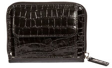 WalletBe Women's Leather Accordion Wallet, Wristlet, Zip Around, Credit Cards,