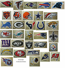 NFL Decal Sticker Football Team Logo Licensed Choose from all 32 Teams