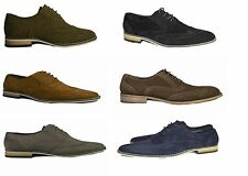 NEW NAVY BLUE SUEDE MEN LACE UP BROGUES SHOES UK6-11