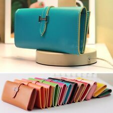Fashion Womens Lady Faux Leather Bifold Card Holder Clutch Bag Wallet Purse Case
