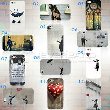 Brand New Retro Banksy Graffiti Phone Case Cover Shell For Apple iPhone 5 5S HOT