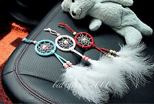 Dreamcatcher with feather wall or car hanging decoration ornament 3 Color