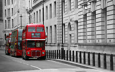 001 London Classic Red Double Decker Bus England - Photo Prints A4 A3 or CANVAS