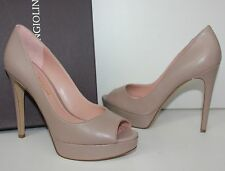 Enzo Angiolini ATINA natural leather platform peep toe pump shoes New In Box
