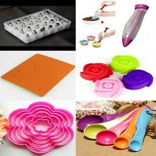 Icing Cake Tools Pastry Sugarcraft Decorating Mould Nozzles Mat Measuring Spoon