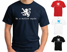 BE A NATION AGAIN T-SHIRT - SCOTTISH INDEPENDENCE YES FLOWER OF SCOTLAND