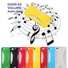 TPU Acoustic Sound Amplifier hard Case Cover for iPhone4/4S 5/5S SamsungS5 Note3