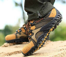Men's Gray Outdoor Breathable Moab Ventilator Lace-up Trail Hiking Casual Shoes