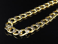 Mens 1/10th 10K Yellow Gold Diamond Cut Curb Cuban Chain Necklace 4.5mm 18-30Ins