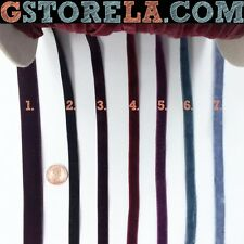 """3/8"""", 1/2"""" inch Velvet Ribbons Stretch Choose Color Trim Sewing Craft Bow Suede"""