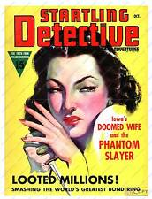 Startling Detective,   Vintage Magazine cover  poster reproduction