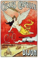 6299.Cycles capelle.angel flying with bicycle in hand.POSTER.Home Office art
