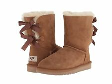 NEW - Women's UGG BAILEY BOW Chestnut Boots - 1002954