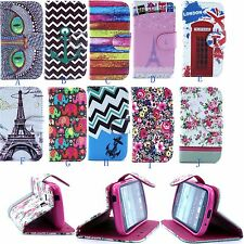 OWL Flower Anchor PU Leather Wallet Flip Case Stand Cover For LG Optimus G2 D802