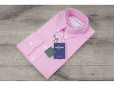 Ede & Ravenscroft £110 Pink Oxford Cloth Button Down Shirt Made In England