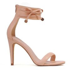 "WOMENS SHOES""ORSON""BY VERALI  HOT NEW STUNNING HIGH HEEL SANDALS IN NUDE SMOOTH"