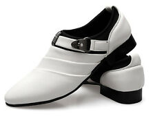 2014 Mens Casual Wing Tip Dress Shoes Buckle Loafers Slip On Flat Leather Shoes