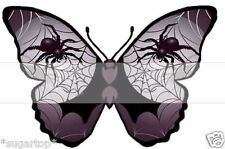 25 HALLOWEEN Spider Web Butterflies STUNNING Effective Edible Cup Cake Toppers
