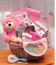 BABY SHOWER Gift Basket Simply the Basics in Pink or Blue for a Boy or Girl