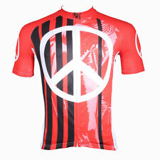 Red Backgound Black Stripe Fashion Style Bicycle Cycling New Sleeved Jerseys