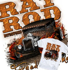 Rat Rod T-Shirt Hot Motorworks US V8 Chevy Classic Ford Flames Route 66 sz.S-XL