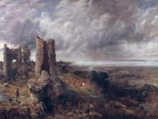 6547.Man walking with dog  in the middle of ruins.POSTER.art wall decor