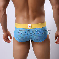 HOT SELL~Men's Low Rise Underwear Boxer Briefs Trunks Panties Mesh Holes Shorts