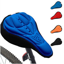 Cycling Bike Bicycle Comfort Soft Silicone 3D Gel Saddle Pad Cushion Seat Covers