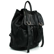 Women String Decoration Casual Genuine Leather Backpack (#NAS56)