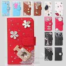 Color Bling Diamond Panda Wallet Leather Flip Case Cover for Various LG Phone