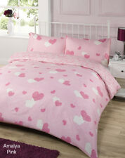 Amalya Pink Duvet Bedding Set - Single-Double-King Size-Super King Size