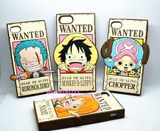 New One Piece Luffy Wanted Anime Silicone Soft Back Case for Iphone 4 4s / 5 5s
