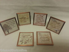 Copper Expressions Plaques Friend Serenity Happiness Faith and many more