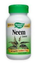 Nature's Way NEEM Leaves - Certified 475 mg - 100 Capsules (#1204)
