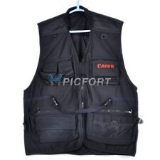 New black Cotton photographer photo vest large size for Canon user 7D 60D 5Dii