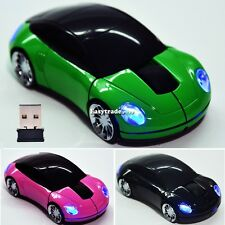 2.4G 1800DPI 3D Car Shape Wireless Optical Mouse Mice USB Receiver for Laptop PC